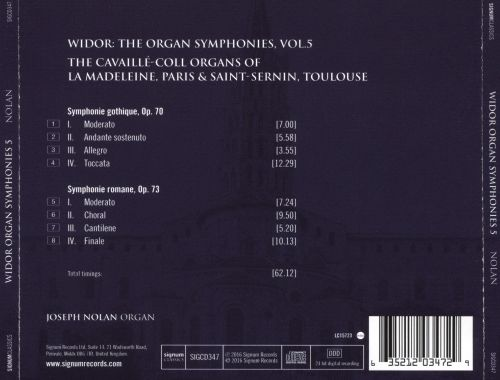Charles-Marie Widor: The Organ Symphonies, Vol. 5