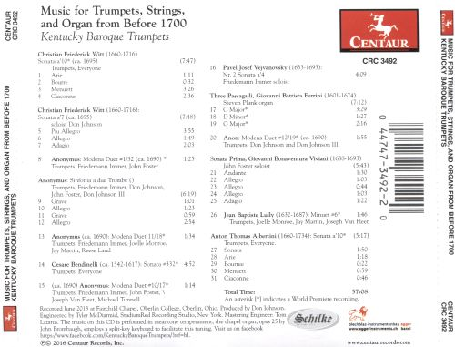 Music for Trumpets, Strings and Organ from Before 1700