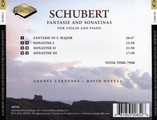 Schubert: Fantasie and Sonatinas for Violin and Piano