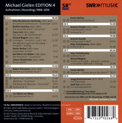 Michael Gielen Edition, Vol. 4: 1958-2014
