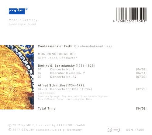Confessions of Faith: Choral Concertos by Bortniansky and Schnittke