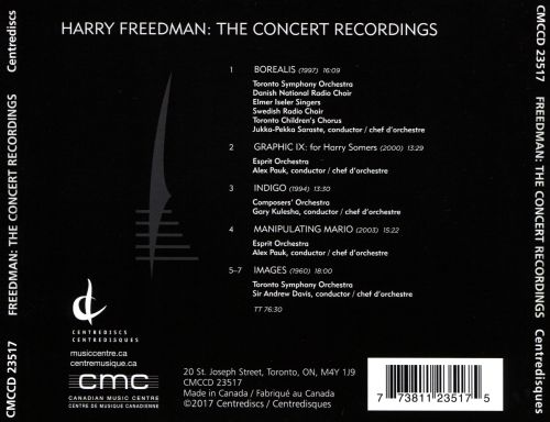 Harry Freedman: The Concert Recordings