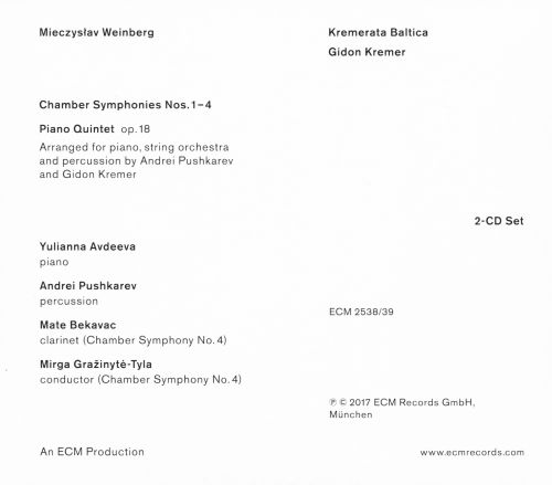 Mieczyslaw Weinberg: Chamber Symphonies; Piano Quintet