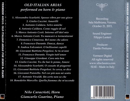 Old Italian Arias Performed on Horn & Piano