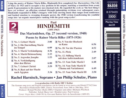 Hindemith: Das Marienleben (The Life of Mary)
