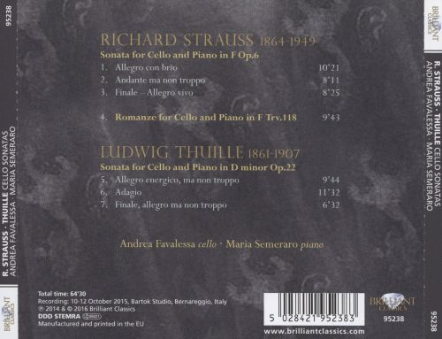 R. Strauss, Thuille: Cello Sonatas