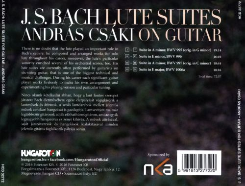 J.S. Bach: Lute Suites for Guitar