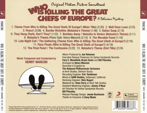 Who Is Killing the Great Chefs of Europe? [Original Soundtrack]