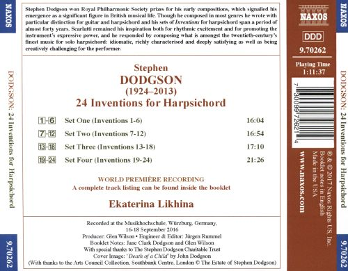 Stephen Dodgson: 24 Inventions for Harpsichord