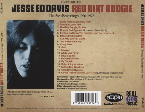 Red Dirt Boogie: The Atco Recordings 1970-1972