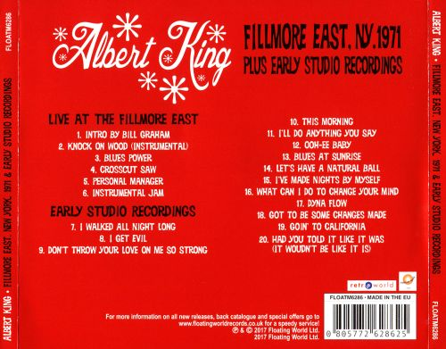Live at the Fillmore Easy, NY 1971 Plus Early Studio Recordings