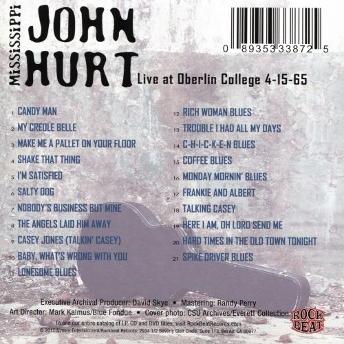 Live at Oberlin College 4-15-65