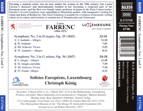 Louise Farrenc: Symphonies Nos. 2 and 3